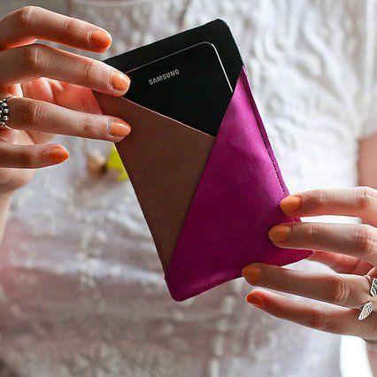 Housse téléphone en cuir