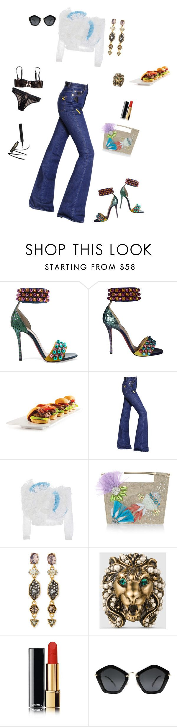 """""""Friday Funday!"""" by kitty1126 ❤ liked on Polyvore featuring Christian Louboutin, Sonia Rykiel, Delpozo, Alexis Bittar, Gucci and Miu Miu"""