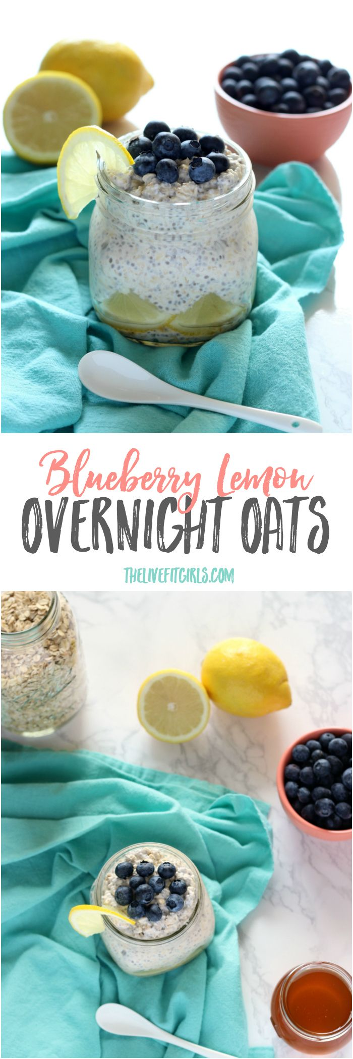 Wake up on the right side of the bed with these super simple Lemon Blueberry Overnight Oats!