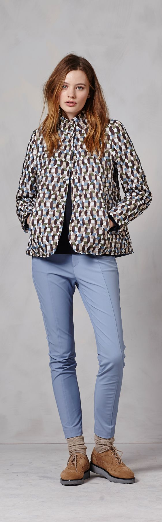 Cute, geometric patterned A-line coats are a perfect way to add some sweetness and intrigue to a winter outfit.