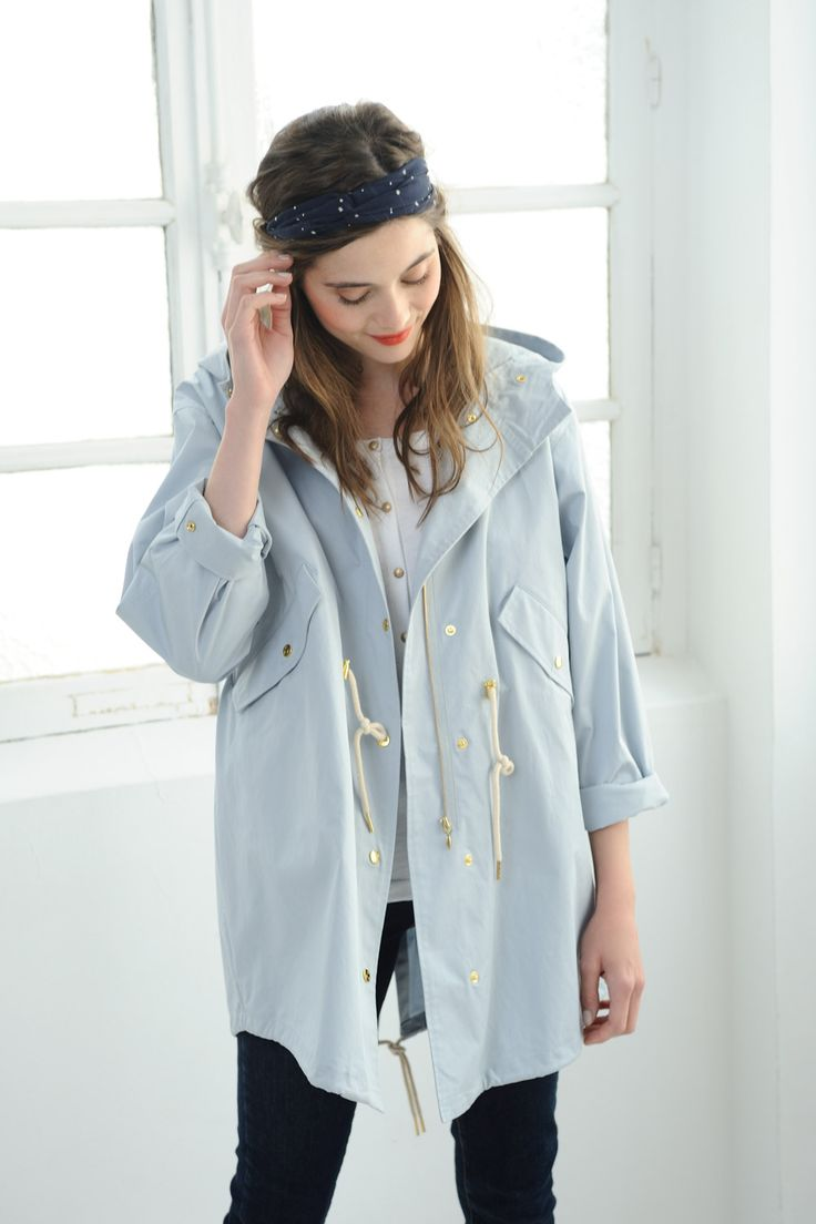 Veste femme bleu marine h&m