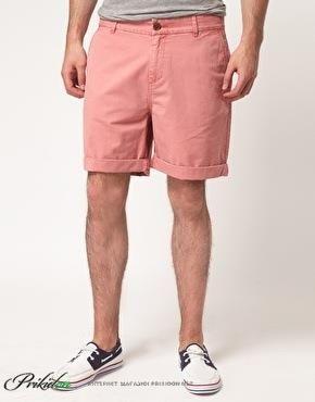 Розовые шорты мужские