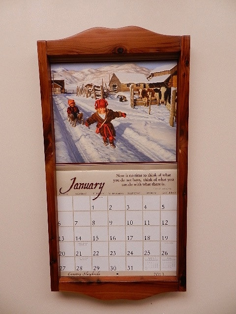 calendar holder calendar frame by winterrosewoodwork on etsy 2900