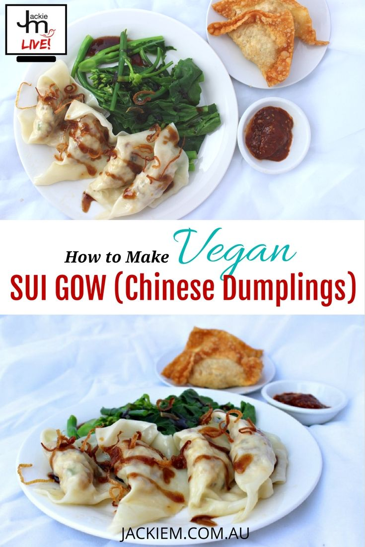 Learn how to make a healthy version of Chinese dumplings aka Sui Gow from Jackie M's LIVE Asian Kitchen broadcast. Follow www.JackieM.Live for more recipes and a chance to win some giveaways!