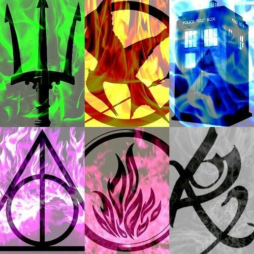 Percy Jackson, The Hunger Games, Doctor Who, Harry Potter, Divergent and The Mortal Instruments <3