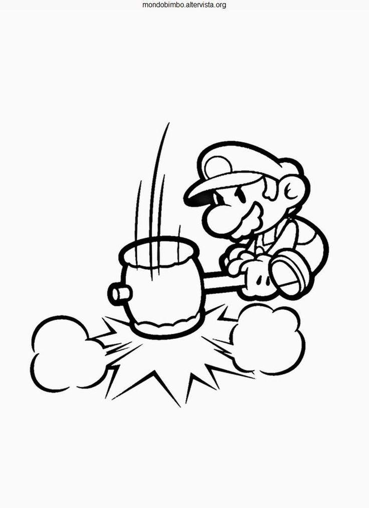 Coloriage Mario Paper Millenaire 10 Dessin