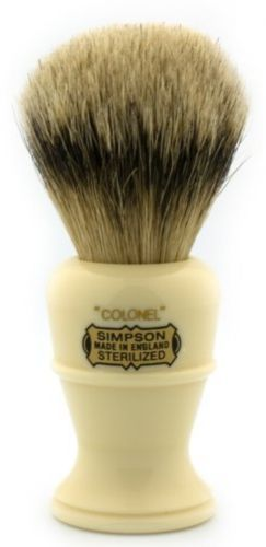 Shaving Brushes and Mugs: Simpsons Colonel X2l Best Badger Shaving Brush BUY IT NOW ONLY: $80.75