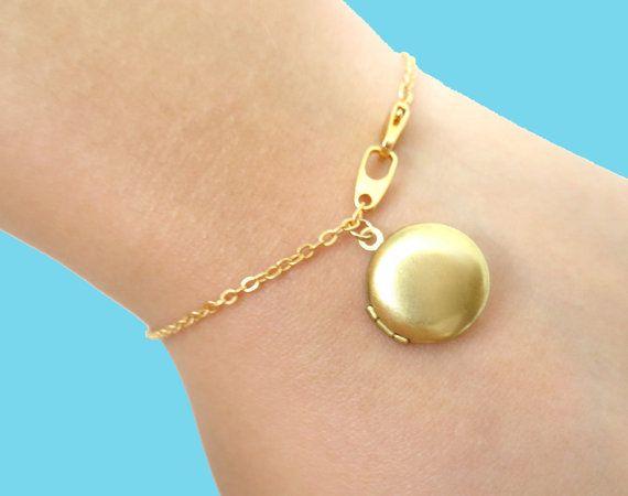 Small Locket Bracelet Cute Mini Photo Locket Bracelet by Solistar, $17.00