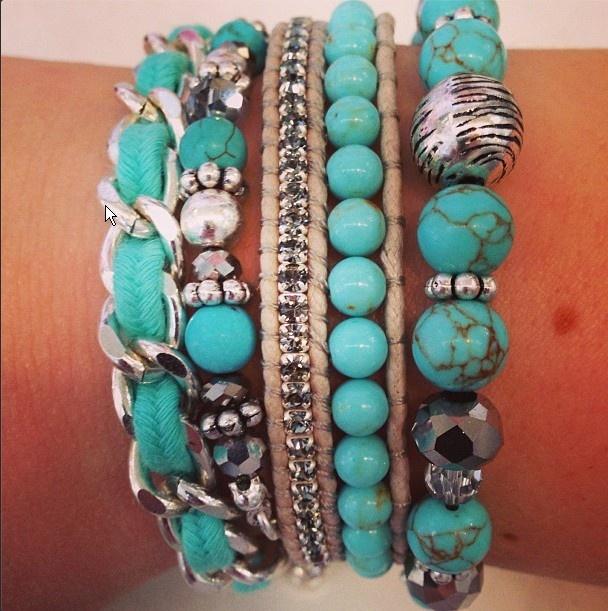 #Turquoise armbanden #ACsieraden