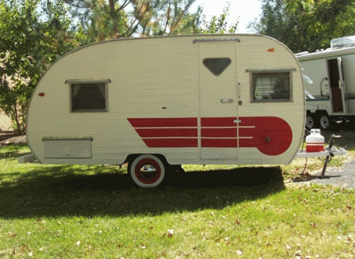 1965 mobile scout like new camping cabins rv 39 s pinterest. Black Bedroom Furniture Sets. Home Design Ideas