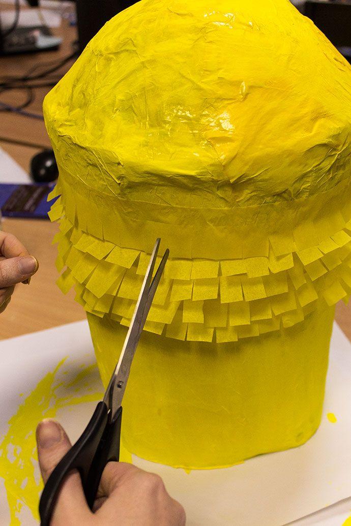 How to Make a Minion Piñata Step 4