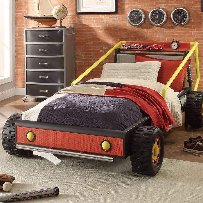 Kids Twin Bed Car