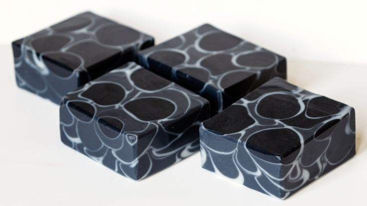 Charcoal Lavender Mint Soap - Dancing Funnel - Great Cakes Soap Challenge