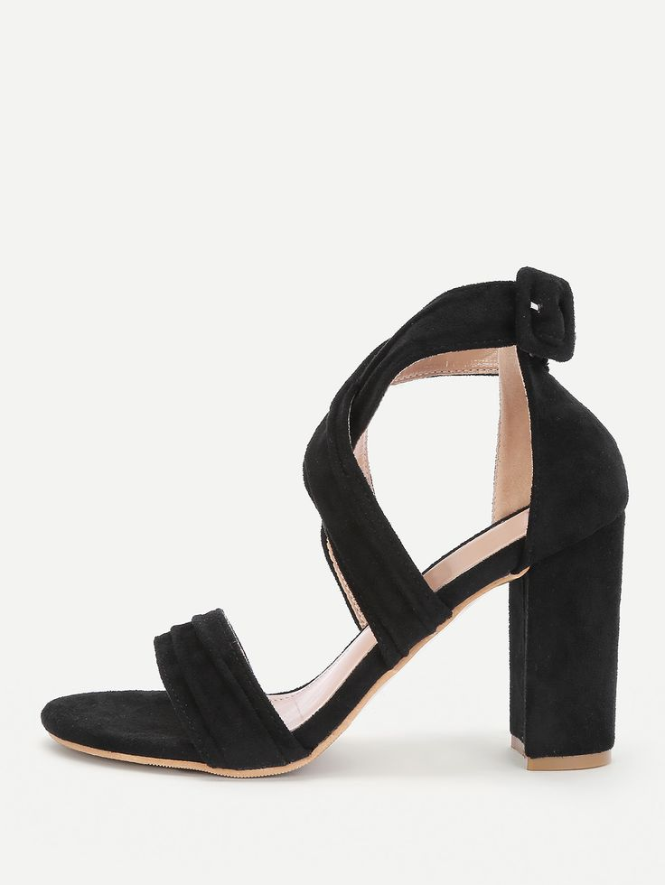 Shop Criss Cross Block Heeled Sandals online. SheIn offers Criss Cross Block Heeled Sandals & more to fit your fashionable needs.
