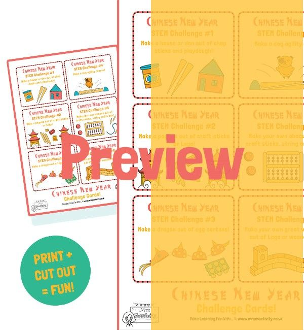 Chinese New Year STEM Challenge Cards, KS2 Chinese new year, STEM Chinese New Year, Challenge cards, free primary resources, parents, Mrs Mactivity