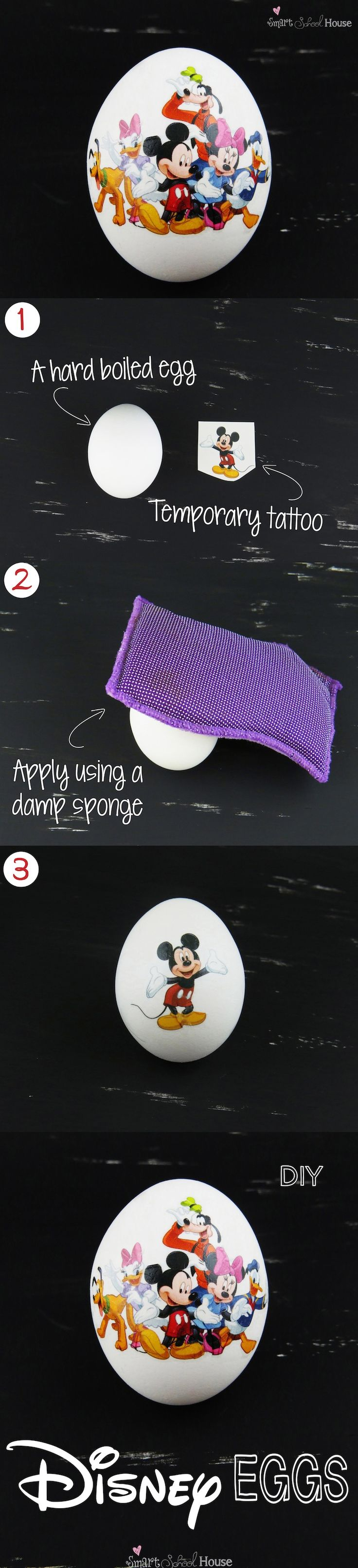 How to make Disney Eggs for Easter! This craft is SO EASY! #Disney