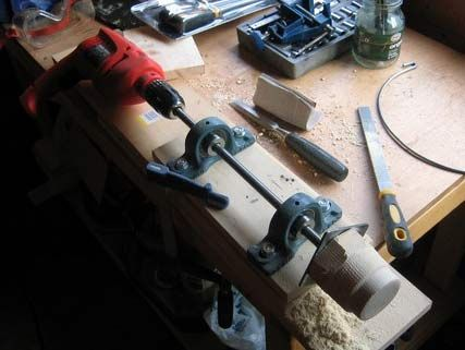 Build a Simple Drill-Powered Wood Lathe