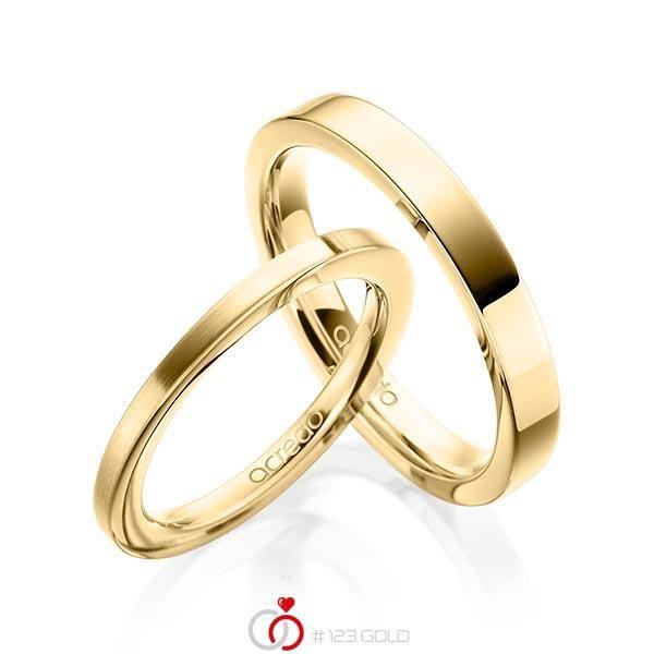 Paar Klassische Trauringe Eheringe In Gelbgold 585 Von Acredo A 1913 1 123gold Einzigartig Wie Die Liebe Klassische Trauringe Trauringe Zarte Ringe