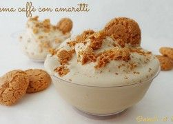 Crema caffè con amaretti | Ricetta crema caffè estiva