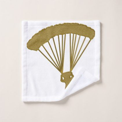 Golden Parachute Wash Cloth - home gifts ideas decor special unique custom individual customized individualized