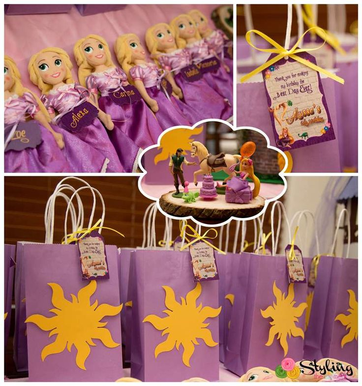 Favors at a Tangled birthday party! See more party ideas at CatchMyParty.com!