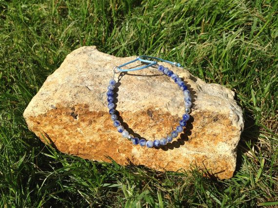 Lapis Lazuli Stacking Bracelet by AppleBlossomJewel on Etsy