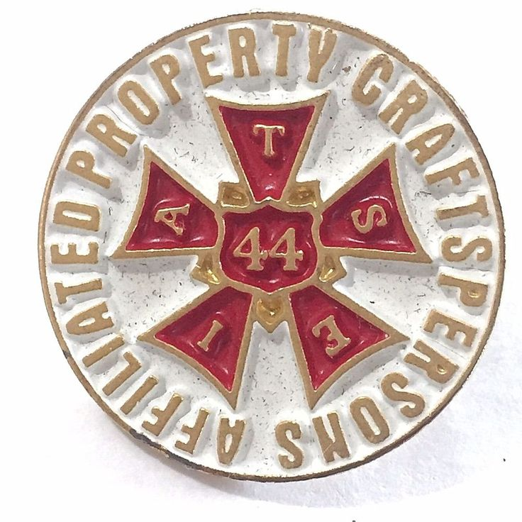 IATSE Union Local 44 Pin Affiliated Property Craftsperson Entertainment Film Art #Unbranded