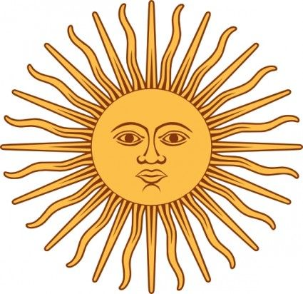 May Sun From Argentina Flag clip art