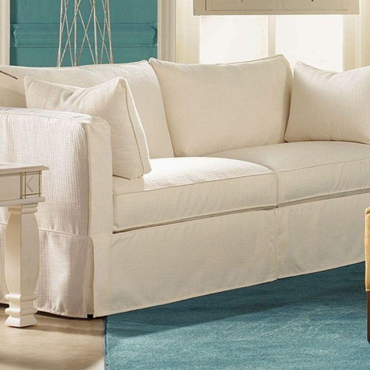 Linen Slipcovered Sleeper Sofa