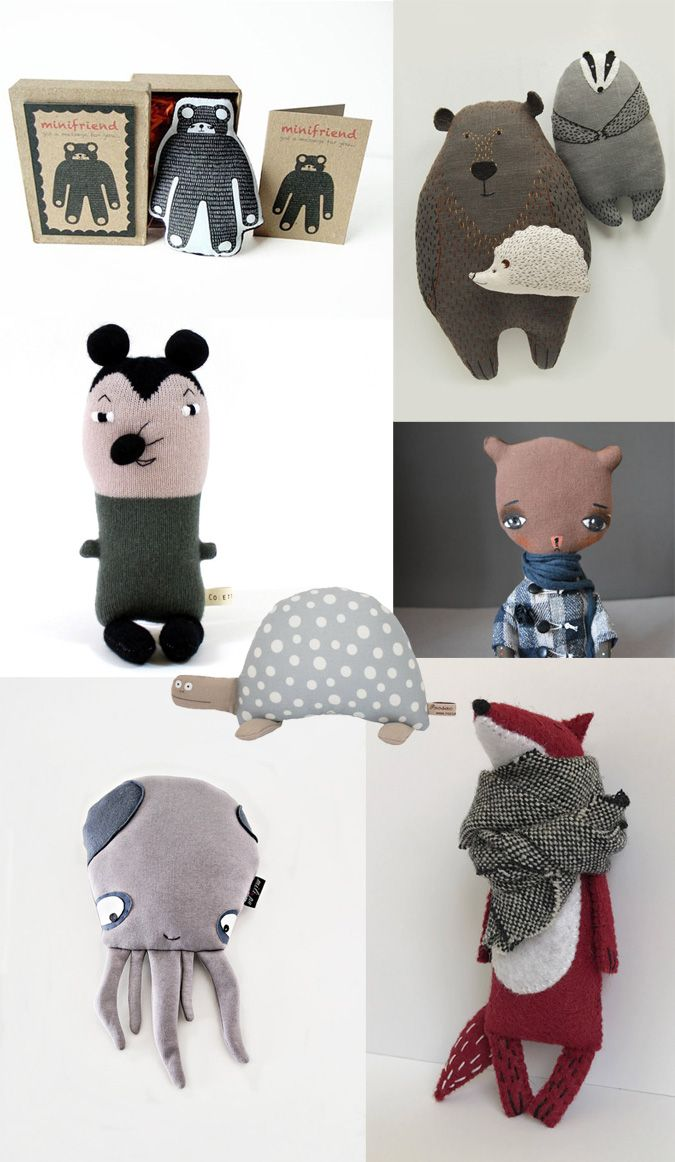 Soft friends on Etsy