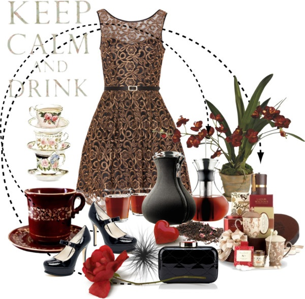 """""""Keep Calm and Drink Tea"""" by oxalis4de ❤ liked on Polyvore"""