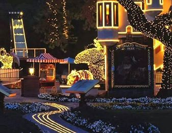Neverland Valley Ranch at night