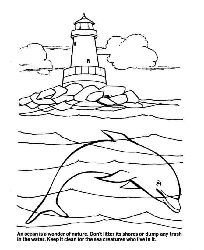 Earth Day Coloring Pages - Ocean Ecology  Conservation Coloring