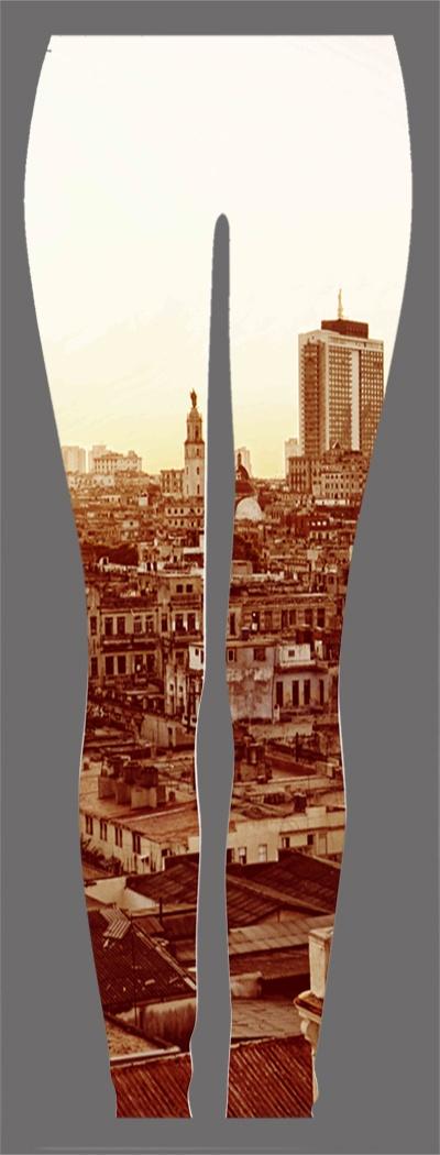 Downtown Havana Sunset leggings    #leggings #havana #printedleggings #muchachohavanaleggings #muchacho