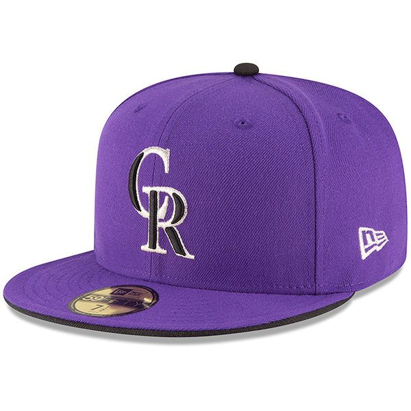 the latest 91064 89f93 Men s Colorado Rockies New Era Purple Authentic Collection On Field 59FIFTY  Structured Hat,  34.99