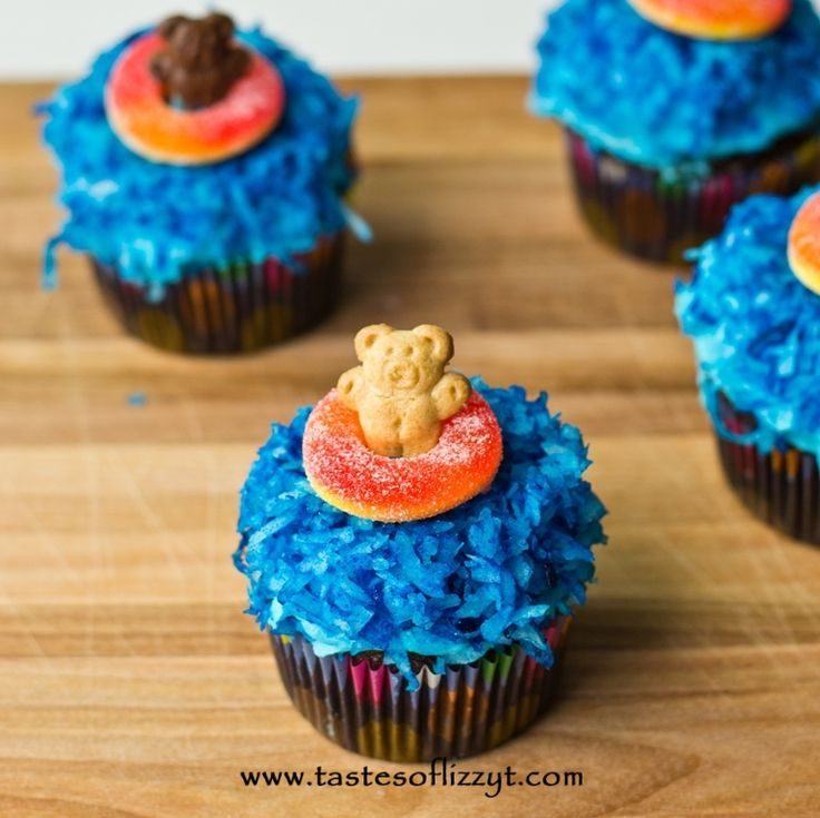 Teddy Graham Cupcakes >> by Tastes of Lizzy T's