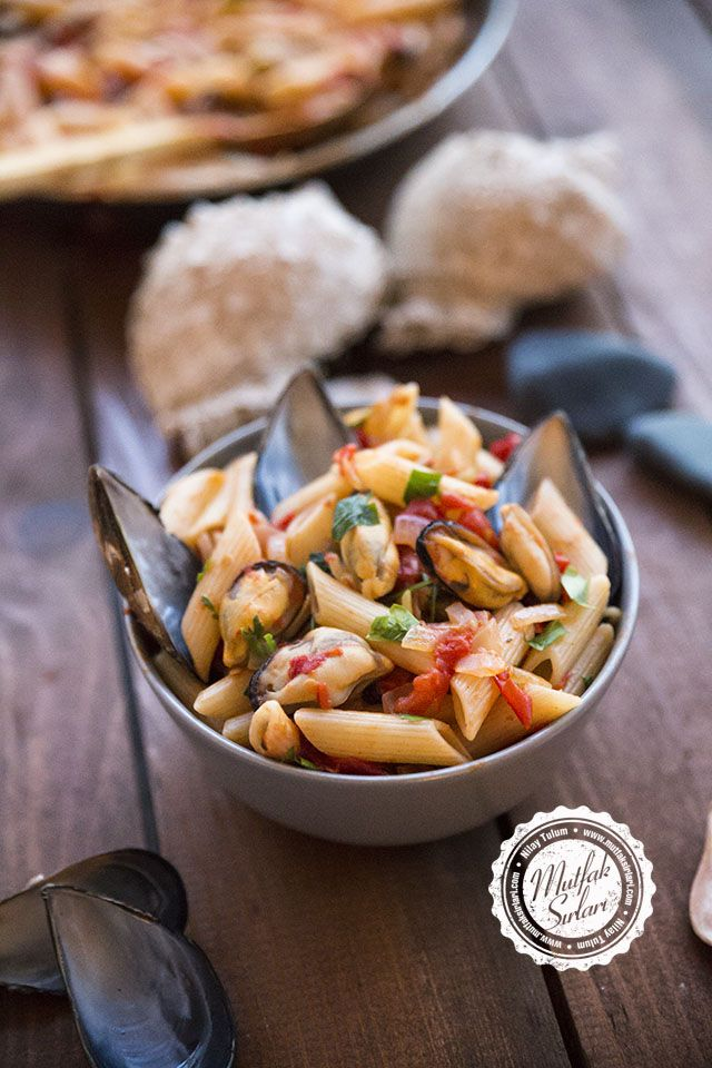 Midyeli Makarna Tarifi #mussel #pasta #seafood