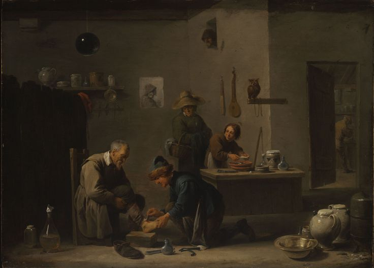 David Teniers the Younger, At the Village Doctor's, 1636. Oil on oak, 46 x 63 cm