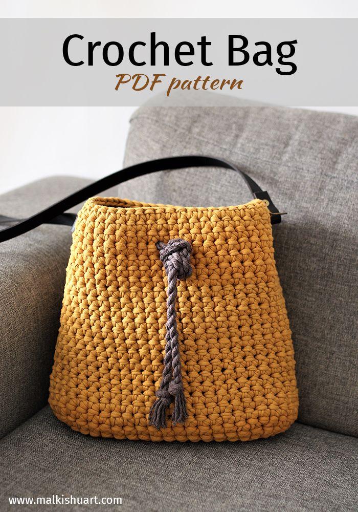 Crochet Bag Pattern Crochet Oval Base Bag Pdf Instant Download