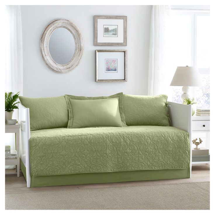 Felicity 5 Piece Daybed Set Daybed - Green - Laura Ashley