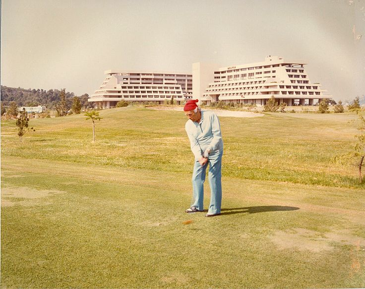 #ThrowbackThursday  ......when Giannis  Carras was playing golf at Porto Carras Grand Resort !  #PortoCarras #Halkidiki #golflover #throwback #tbt