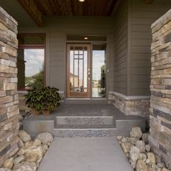 Kuiken Design, Remodeling Ideas, Bathroom Design, Modern Home Design, Exterior Side Colors, House, Stones, Entrance, Front Porches