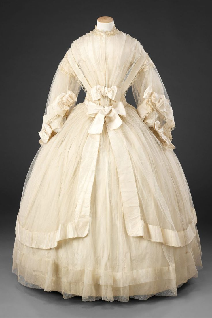 Wedding dress ca. 1858-60 From the John Bright Historic Costume Collection
