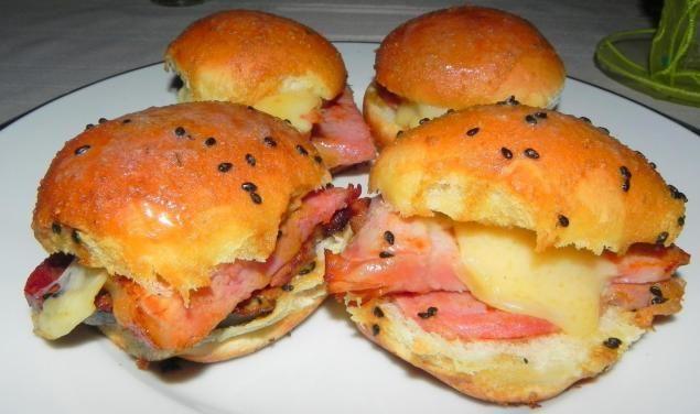 Hawaiian Ham Roll Sliders: Photo - 2 | Just A Pinch Recipes