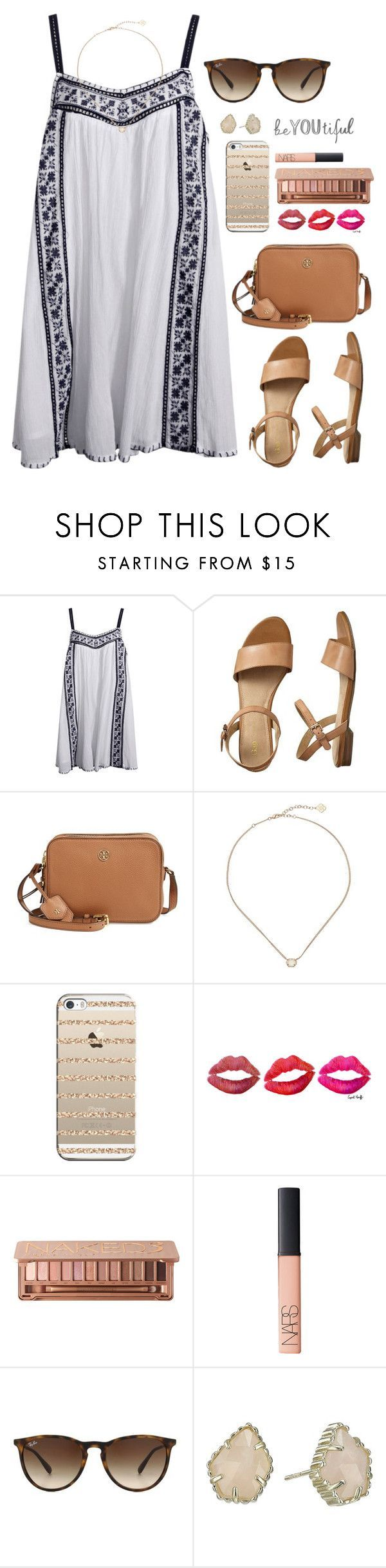 UNC is in the elite 8ยก!ยก! by lillianjester โค liked on Polyvore featuring Gap, Tory Burch, Kendra Scott, Casetify, Urban Decay, NARS Cosmetics and Ray-Ban