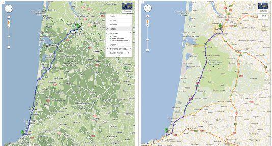 Google Maps añade tours para ciclistas en Alemania, Francia, Polonia y más