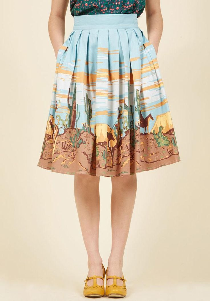 AdoreWe - ModCloth Banned Hard at Quirk A-Line Skirt in S - AdoreWe.com
