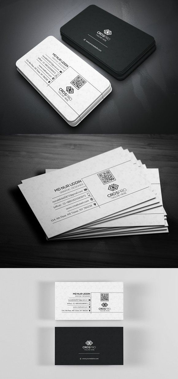 Black White Business Card White Business Card Photo Business Cards Business Cards Creative