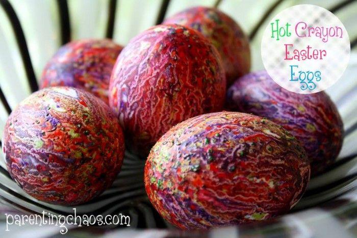 Hot Crayon Easter Eggs
