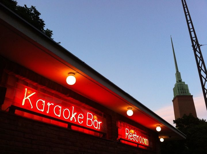 Karaoke is the entertainment of choice for locals, and Restroom is a town favorite.